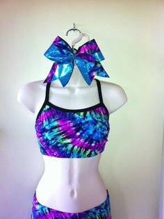 tie dye sports bra by LeBow1cheerbows on Etsy, $24.99