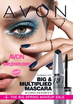 Avon ~ Introducing Big & Multiplied Mascara.  Multiply your impact!  Shop sale prices in Avon Campaign 10 2016, April 14, 2016 to April 27, 2016.  Shop Avon online @ www.thecjteam.com.  #Avon #Campaign10 #Sale #CJTeam #BigAndMultiplied