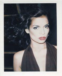 Bianca Jagger, polaroid by Andy Warhol, 1975