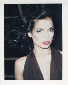 Bianca Jagger, polaroid by Andy Warhol, 1975