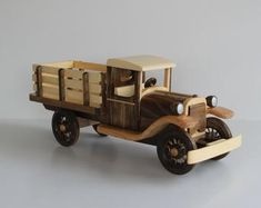 1928 Chevy Pick-up Truck Wood Model Toy Pickup Trucks, Farm Trucks, Tow Truck, Model Truck Kits, Wooden Plane, Wooden Toy Trucks, Handmade Wooden Toys, Birthday Gifts For Kids, Christmas Birthday