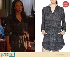 Iris's heathered grey dress on The Flash.  Outfit Details: http://wornontv.net/39286/ #TheFlash