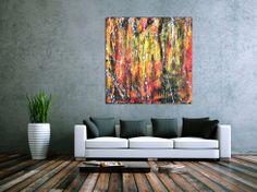 Abstraktes Acrylbild modern und bunt 120x120cm von xxl-art.de