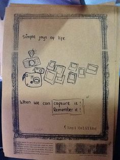 Dinda: #SimpleJoyOfLife - Capture It! Remember It!