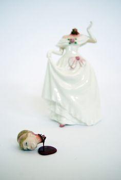 Jessica Harrison Artist Adds Blood and Gore to Kitsch Ceramic Figurines - DesignTAXI.com