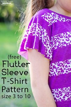 Free Flutter Sleeve Sewing Pattern (sz 3 to 10). Perfect sewing project for summer!