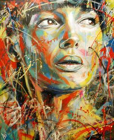 """""""David Walker uses spray paint to create beautiful graffiti portraits. He works under self-imposed constraints such as 'no brushes' and the results are quite stunning. David Walker, Walker Art, Art And Illustration, Illustrations, Graffiti Artwork, Street Art Graffiti, Graffiti Painting, Berlin Graffiti, Graffiti Piece"""