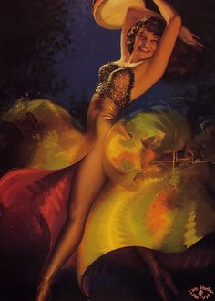 Vintage pin-up by Rolf Armstrong.