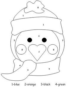 cute penguin free art template