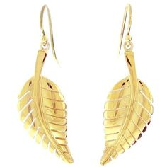 Jennifer Meyer Yellow Gold Leaf Earrings ($2,275) ❤ liked on Polyvore featuring jewelry, earrings, earrings jewelry, gold leaves earrings, 18k gold earrings, 18 karat gold jewelry and 18k yellow gold earrings