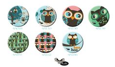 OWLS series of Large Magnets with funny and crazy by Sloshe, $3.00