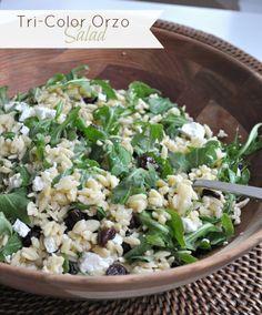 Tri-Color Orzo Salad