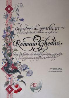 Calligraphy from Barbara Calzolari, illumination from Tiziana Gironi