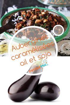 Recette chinoise d'aubergines caramélisées ail et soja.