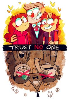Trust no one by Caramelkeks on deviantART. This is my favorite kind of creepy.
