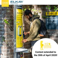 We are giving away FREE Elkay drinking water fountains to six universities nationwide! Drinking Fountain, Drinking Water, Filling Station, Plastic Waste, Sustainability, Effort, 30th, Campaign, University