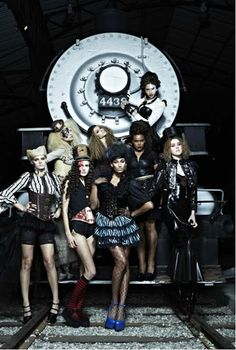 From the Steampunk Fashion Guide: America's Next Top Model Steampunk photo shoot (2012)