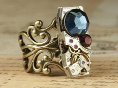 Steampunk Ring  Clockwork Jewelry  Vintage by inspiredbyelizabeth
