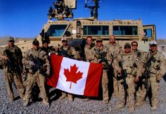 Canadian soldiers have been in Afghanistan since December holding the Canadian flag. Canadian Things, I Am Canadian, Canadian History, British Columbia, Soldiers Coming Home, Meanwhile In Canada, Canadian Soldiers, Military Police, Usmc