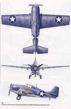 F4F Wildcat, USMC, Guadalcanal, 1942, image courtesy of Osprey Publishing