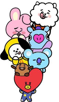 «BT21» de sandovalnessy Kpop Iphone Wallpaper, Cartoon Wallpaper, Bts Wallpaper, Cute Disney Drawings, Cute Drawings, Disney Canvas Art, Anime Cupples, Cactus Drawing, Kawaii Doodles