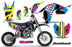 AMR Flashback Custom Dirt Bike Graphics Kit - 2002-12 KTM 65 SX