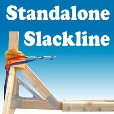 Standalone Slackline Structure