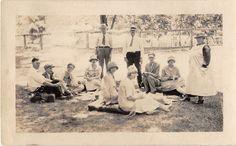 Black and White Vintage Snapshot Photograph Family Picnic Dress Yard 1920'S | eBay
