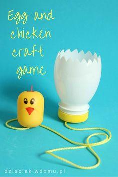 Egg and chicken craft game for kids / zabawka zrcznociowa dla dzieci DIY