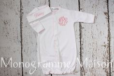 Coming Home Outfit-Baby Girl Converter-Baby by MonogrammeMaison
