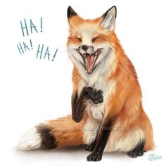 Laughing Fox – SpeedPaint by GoldenDruid Laughing Fox – SpeedPaint par GoldenDruid - Funny Animals, Cute Animals, Funny Foxes, Fox Drawing, Fantastic Mr Fox, Foxes Photography, Cute Animal Drawings, Fox Art, Cute Fox