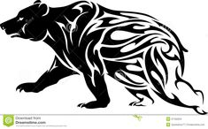 Illustration about Abstract bear in flaming pattern silhouette on white background. Illustration of crawl, tribal, illustration - 37102234 Silhouette Tattoos, Silhouette Cameo, Tribal Bear Tattoo, Tribal Tattoos, Bear Pictures, Pictures To Paint, California Bear Tattoos, Grizzly Bear Tattoos, Bear Sketch