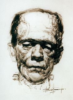 Borris Karloff as Frankenstein by Basil Gogos