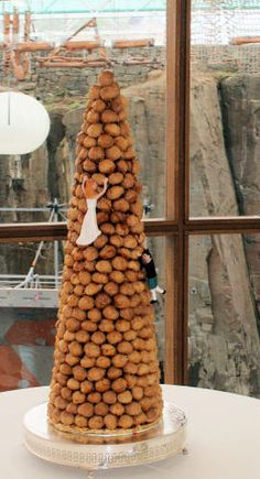 Croquembouche French Wedding Cake complete with sugarcraft climbers