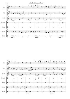 Alle psallite cum luya for 2 flutes and alto flute with percussion