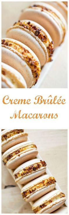 Creme Brulee Macrons