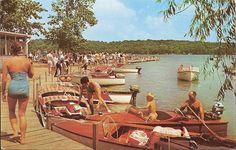 Vintage 1959 Bledsoe's Beach Lake James Indiana postcard | eBay