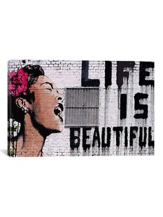 Life Is Beautiful (Canvas) by iCanvas at Gilt