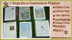 7 Steps to a Customized Homeschool Planner - Free too {paper planner girl in a digital world - love}