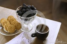 Mulberry In A Vase, Morning Breakfast Still-life With Coffee, Mulberry And Biscuits #mulberry #blackfood #blackfruits #mulberryfruits #berries #breakfest #coffee #morning #stilllife #photography #dreamstime #abrakadabraart