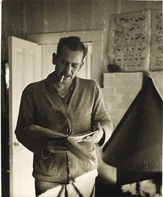 John Steinbeck (American, 1902–1968), writer of the Pulitzer Prize-winning novel The Grapes of Wrath.