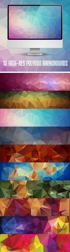 10 Geometric Triangular #Backgrounds - Abstract Backgrounds