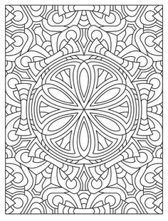 Mandala 626, Creative Haven Mandala Madness Coloring Book, Dover Publications