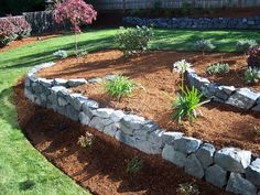 Rock wall landscaping | Lewis Landscape Photo Gallery :: Basalt Rock Walls & Steps :: aae