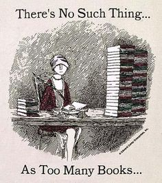 There's no such thing as too many books.  Edward Gorey