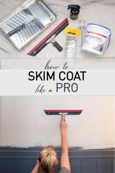 repair diy Easy tutorial to smooth out a wall! Home Renovation, Home Remodeling, Skim Coating, Drywall Repair, Plaster Repair, Drywall Tape, Diy Home Repair, Smooth Walls, Home Repairs