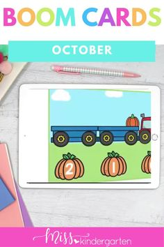 Students will practice making ten and counting to ten in these kindergarten digital centers. These Kindergarten Math Boom Cards are great for Kindergarten Distance Learning. Making Ten, Kindergarten Math Activities, Number Sense, Counting, Digital, Cards, Hens, Playing Cards