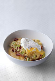 Creaming Grits and Eggs!  My favorite breakfast, lunch or dinner!  It REALLY hits the spot.
