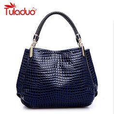 Bolsas Femininas Hot Sale Brand Women Single Shoulder High Grade PU Leather Crocodile Pattern Bags Bolsas Casual Tote Handbags //Price: $35.18 & FREE Shipping //     #womenbags