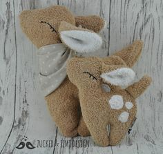 Stofftier Rehkitz Emmi / cute cuddle buddy, little fawn emmi by Zucker-und-Zimt-Design via DaWanda.com